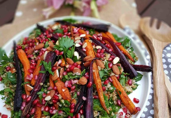 Freekeh, Pomegranate and Roasted Carrot Salad